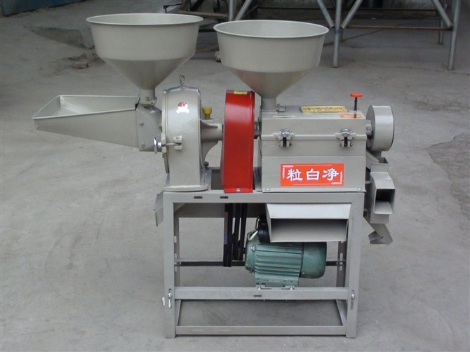 Rice mill and grinder combined machine