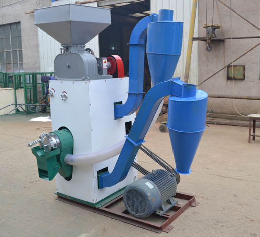 Paddy rice huller and peeler combined machine