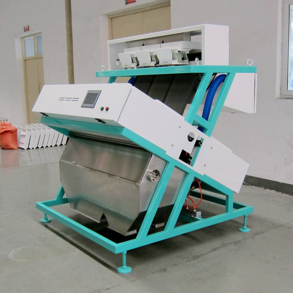 Application of color sorting machine in rice milling